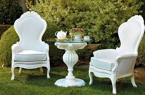 Outdoor Armchair 605 with Side Table from PolArt Designs