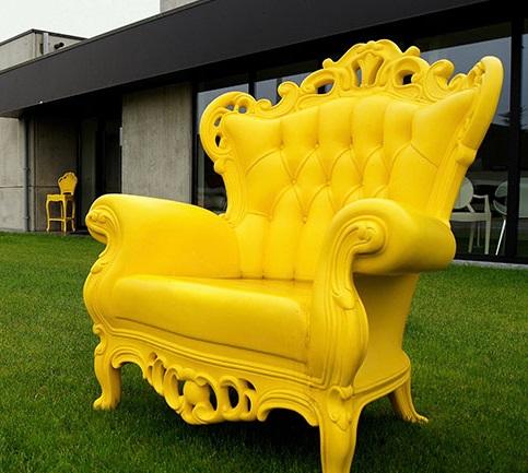 Plastic Outdoor Armchair 646 from Polart Designs