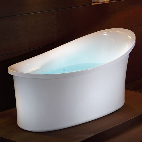 6 Foot White Freestanding Airbubble Bathtub with Chromotherapy AM1800 from Eago