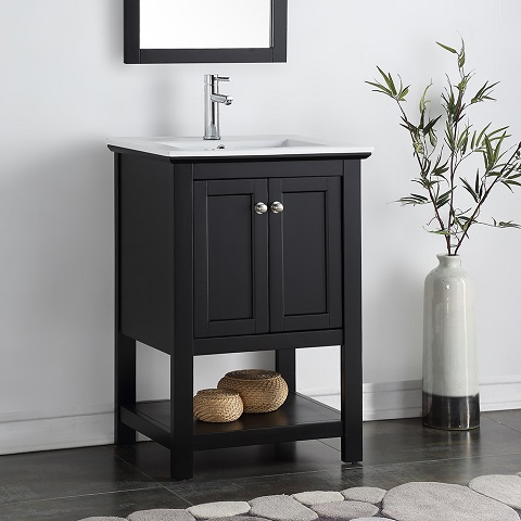 "Manchester 24"" Black Traditional Bathroom Vanity FCB2304BL-I"