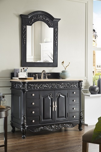"Monte Carlo 48"" Single Bathroom Vanity in Empire Black 207-MC-V48-EB from James Martin Furniture"