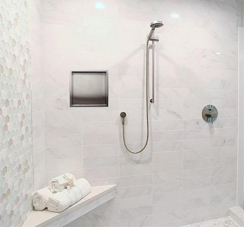 Polished Chrome Sliding Rail Hand Held Shower Set with Hose AB7938-PC from Alfi