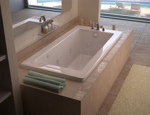 Villa 30 x 60 Rectangular Air And Whirlpool Jetted Bathtub from Venzi