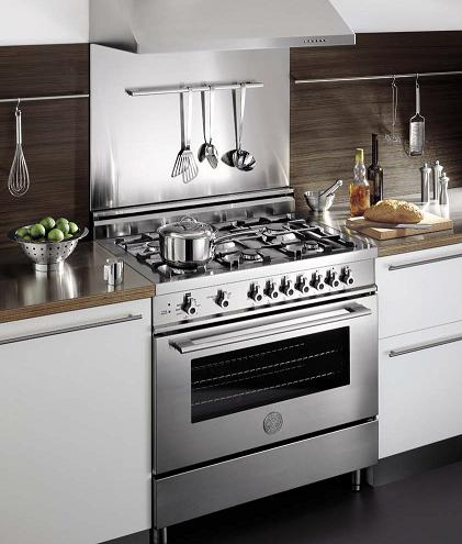 36 Inch Stainless Steel Pro-Series Range From Bertazzoni