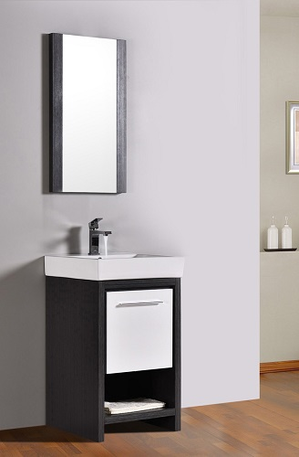 "Milan 20"" Bathroom Vanity Set in Silver Grey and Glossy White 014 20 18 M from Blossom"