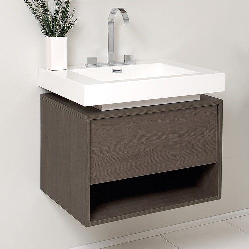Potenza Gray Oak Modern Bathroom Vanity Cabinet FCB8070GO-I from Fresca