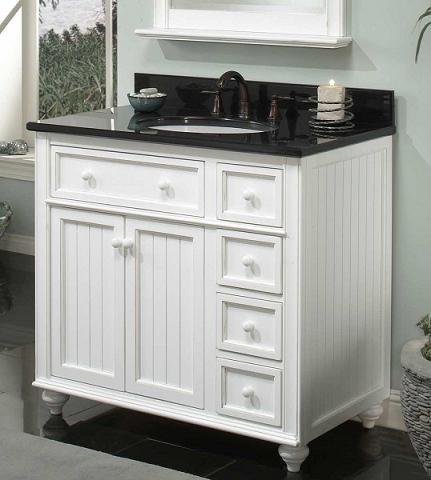 Modular cottage style bathroom vanity sets from sagehill designs for Modular bathroom vanity pieces