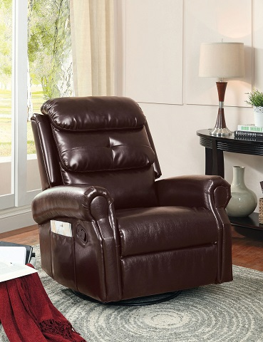 Contemporary Leather Recliner Chair IDF-6960-C from Furniture of America