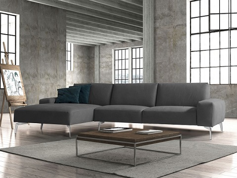 Negramaro Sectional with Chaise SL1615-DGRY-1 from Whiteline Imports