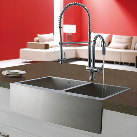 Stainless Steel Pull-Down Spray Kitchen Faucet VG02006ST from Vigo Industries