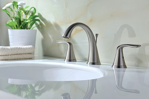 Symphony 2-Handle Brushed Nickel Bathroom Sink Faucet L-AZ004BN from Anzzi