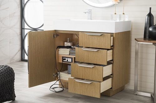 """Bainbridge 36"""" Single B athroom Vanity 368-V36-TBO in Tribeca Oak from James Martin Furniture"""