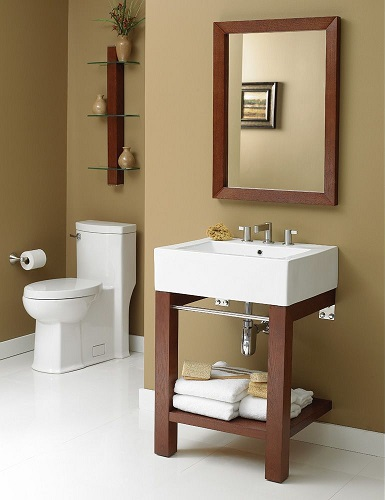 Infusion Wall Mounted Lavatory Console 2550-9CWH-CGN with Cognac Finish from Decolav
