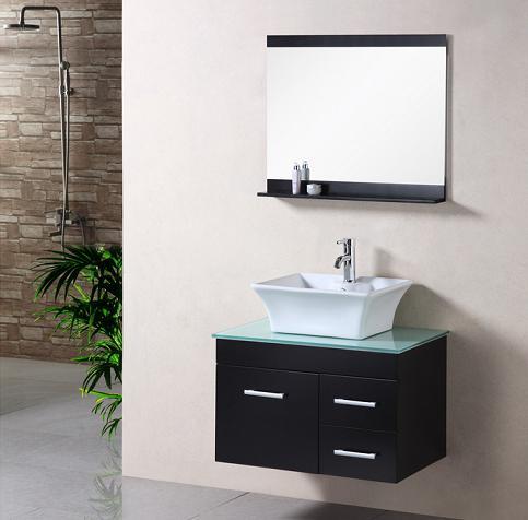 stylishly simple - minimalist wall mounted bathroom vanities