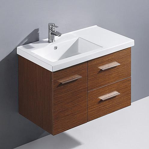 bathroom vanities for two when there 39 s no room for a. Black Bedroom Furniture Sets. Home Design Ideas