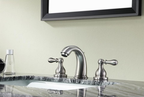 """Merchant 8"""" Widespread 2-Handle Bathroom Faucet in Brushed Nickel L-AZ137BN from Anzzi"""