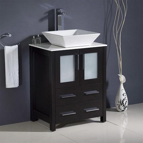 "Torino 24"" Espresso Modern Bathroom Vanity Cabinet FCB6224ES from Fresca"