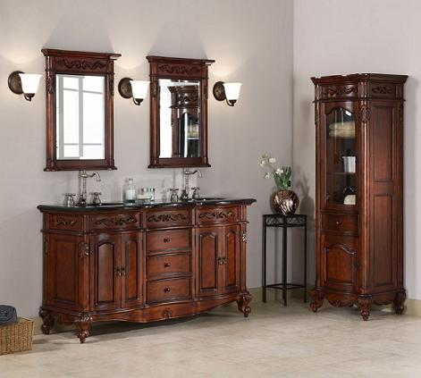 Antique Bathroom Vanity Sets Old World Style With A