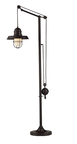 Farmhouse Adjustable Floor Lamp in Oil Rubbed Bronze 65073-1 from Elk Home