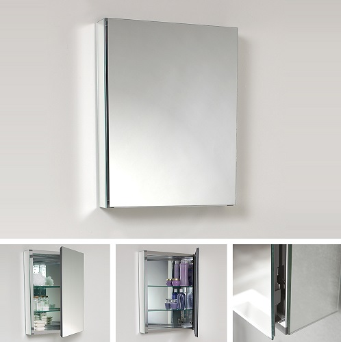 """Senza 20"""" Wide Bathroom Medicine Cabinet with Mirrors FMC8058 from Fresca"""