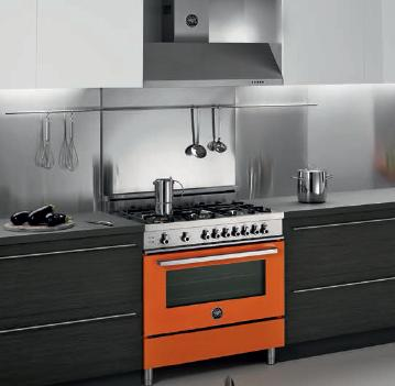 Pro Style Dual Fuel Range With 6 Sealed Burners And Colorful Finish From Bertazzoni