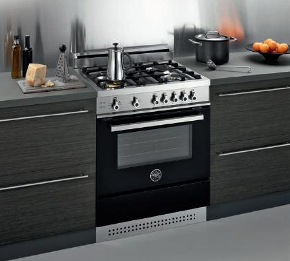 Pro Style Dual Fuel Range With Four Sealed Burners, Convection Oven, And Self Clean From Bertazzoni