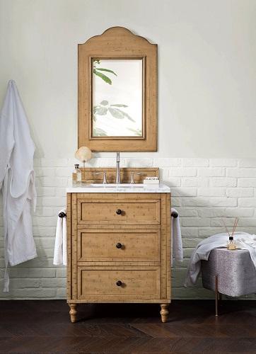 "Copper Cove 26"" Driftwood Patina Single Bathroom Vanity 300-V26-DRP-3AF from James Martin Furniture"