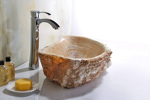 Desert Shell Vessel Sink LS-AZ148 in Dark Honey Onyx from Anzzi