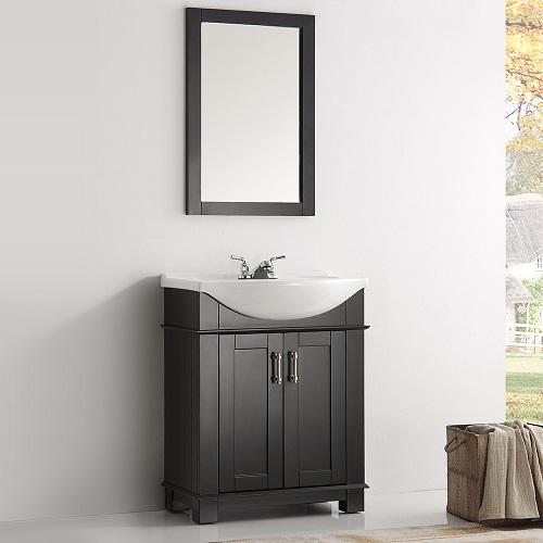 "Hartford 30"" Traditional Black Bathroom Vanity FCB2303BL-I from Fresca"