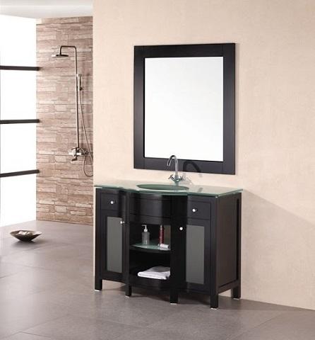 "Rome 43"" Single Sink Vanity Set in Espresso DEC010 from Design Element"