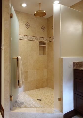 Simple Accent Tiles Can Add Character And Personality To An Otherwise Montone Shower Wall (by NVS Remodeling And Design)