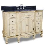 Traditional Buttercream French Legs Single Bathroom Vanity From Hardware Resources