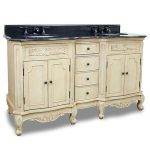 Traditional Buttercream French Legs Vanity From Hardware Resources