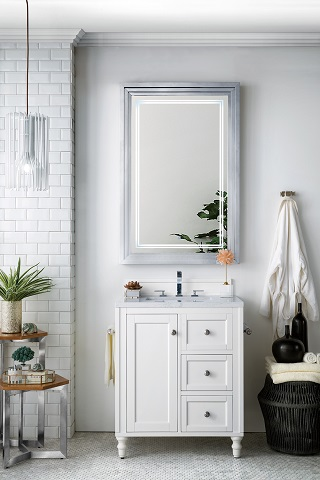 "Copper Cove Encore 30"" Single Bathroom Vanity in Bright White 301-V30-BW from James Martin Furniture"