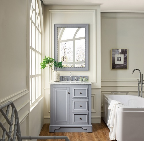 "De Soto 30"" Single Bathroom Vanity in Silver Gray 825-V30-SL from Jame Martin Furniture"