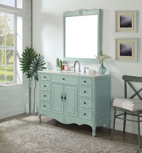 "Provence 46.5"" Single Bathroom Vanity Set MOD081LB-47 from Modetti"