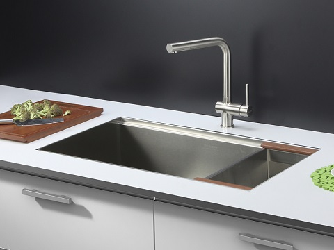Roma Stainless Steel Kitchen Sink And Brushed Nickel Faucet Set Rvc2375 From Ruvati