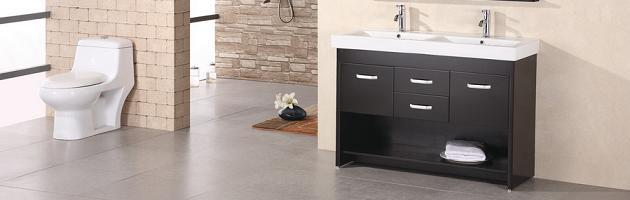 Double Bathroom Vanities Under 60u2033 For A Small Master Bathroom