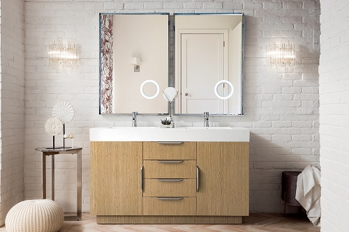 "Bainbridge 59"" Double Bathroom Vanity in Tribeca Oak 368-V59D-TBO-MW from James Martin Furniture"