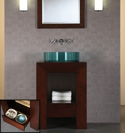 "Purus 24"" Bathroom Vanity V-PURUS-24DW from Ryvyr"
