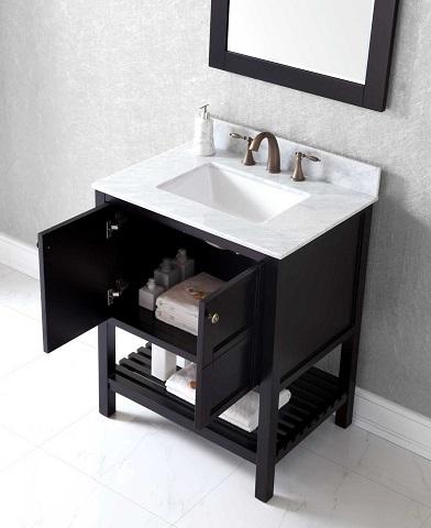 "Winterfell 30"" Single Bathroom Vanity ES-30030-WMSQ-ES from Virtu USA"