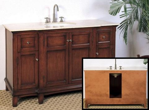 """Medium Brown 53"""" Sink Vanity LF45 from Legion Furniture"""