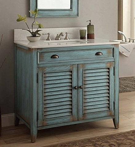 "Palm Beach 36"" Single Bathroom Vanity Se in Blue MOD884BL-36 from Modetti"