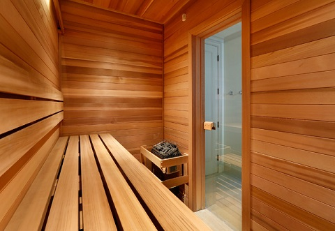 Saunas Are Made Out Of Wood And Sometimes Glass, With Hot Rock Electric Heaters That Produce A High, Dry Heat (by Markay Johnson Construction)