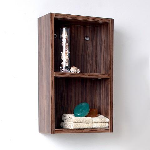 Senza Walnut Bathroom Linen Side Cabinet FST8092GW from Fresca