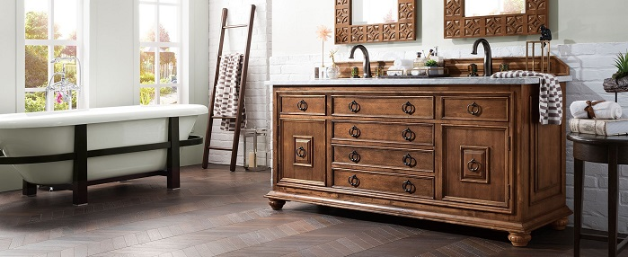 Mediterranean Style Bathroom Vanities: A More Exotic Antique Vanity