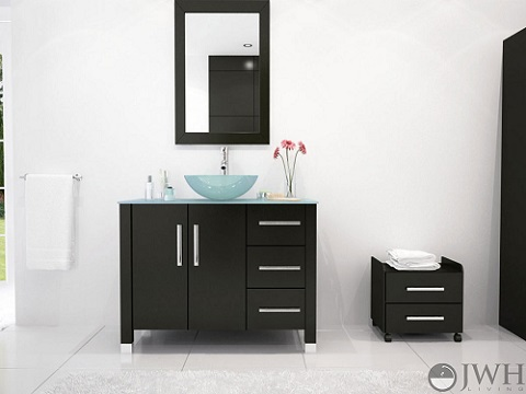 Crater Bathroom Vanity JWH-3318 from JWH Living