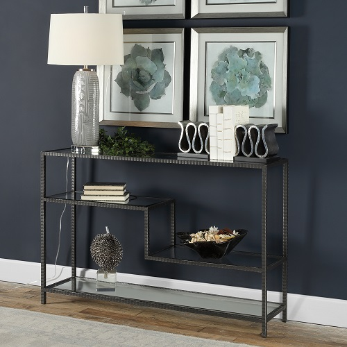 Leo Industrial Console Table 24810 from Uttermost