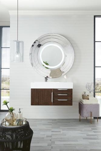 "Mercer Island 36"" Single Bathroom Vanity In Coffee Oak 389-V36-CFO-A from James Martin Furniture"