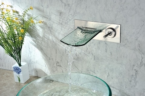 Modern Waterfall Bathrroom Faucet S1208NW from Sumerain